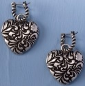 Jim Shore 4032508 Hoop Heart Earrings