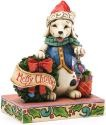 Jim Shore 4034391 Christmas Dog & Wreath Figurine