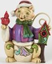Jim Shore 4034394 Mini Christmas Cat Figurine