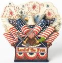 Jim Shore 4037681 Eagle Flag and Fireworks Figurine
