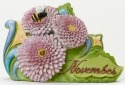 Jim Shore 4040665 November Flower Chr Figurine