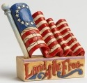 Jim Shore 4040712 Flag Mini Figurine