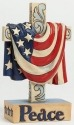 Jim Shore 4040791 Flag Hanging Over C Figurine