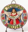 Jim Shore 4041087 2014 Dated Christmas Plate