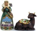 Jim Shore 4041090 Set of 2 figurines ox and shepherd