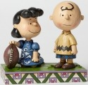 Jim Shore Peanuts 4042376 Football Lucy and Charli