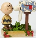 Jim Shore Peanuts 4042380 Charlie Brown Mailbox