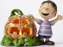 Jim Shore Peanuts 4045887 the great pumpkin light