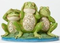 Jim Shore 4047051 Frogs Covering Eyes Figurine