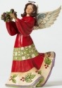 Jim Shore 4047761 Red Green Angel w H Figurine