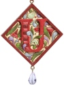 Jim Shore 4049423N Monogram U Hanging Plaque