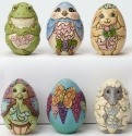 Jim Shore 4051405 6 Assorted Character Eggs Figurine