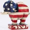 Jim Shore 4052077 Patriotic Elephant Figurine