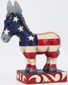 Jim Shore 4052078 Patriotic Donkey Figurine