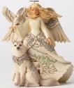 Jim Shore 4053689 Woodland Angel White Figurine