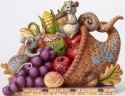 Jim Shore 4053855 Cornucopia w Animal Figurine