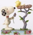Peanuts by Jim Shore 4054079 Snoopy with Woodstock