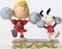 Jim Shore Peanuts 4054083 Cheerleading Sally and S