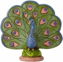Jim Shore 4055063 Peacock Mini Figurine