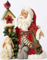 Jim Shore 4055126 Santa Birdhouse Figurine