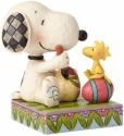 Jim Shore Peanuts 4055653 Snoopy and Woodstock wit