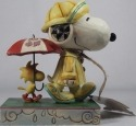 Jim Shore Peanuts 4055654 Platinum Rainy Day Snoop