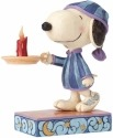 Jim Shore Peanuts 4055658 Nighttime Snoopy with Ca
