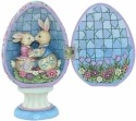 Jim Shore 4056946 Hinged Egg Bunnies Figurine