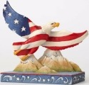 Jim Shore 4056949 Flag Eagle Figurine