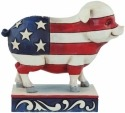 Jim Shore 4056951 Flag Pig Mini Figurine
