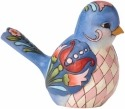 Jim Shore 4056964 Blue Florals Bird Figurine