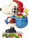 Jim Shore Peanuts 4057672 Santa Snoopy and Woodsto