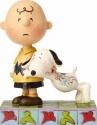 Peanuts by Jim Shore 4057676 Snoopy with Charlie Brow