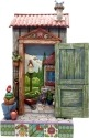 Jim Shore 4057691 Potter's Shed Door Figurine