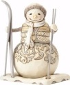 Jim Shore 4058738 Woodland Snowman w Ski