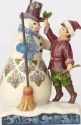 Jim Shore 4058754 Victorian Snowman w Boy