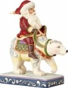 Jim Shore 4058784 Santa Riding Polar