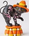 Jim Shore 4058850 Mini Black Candy Corn Cat Figurine