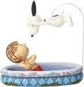 Peanuts by Jim Shore 4059436 Linus and Snoopy Swimming
