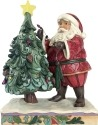 Jim Shore 4059756 Santa Decorating Tr