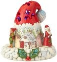 Jim Shore 4060107 Lighted Santa Hat Figurine