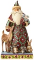 Jim Shore 4060146 Santa's Creature Comforts Santa Figurine With Animals