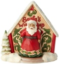 Jim Shore 4060314 Santa and Toyshop Mini Figurines