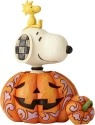 Jim Shore Peanuts 6000981 Pumpkin Snoopy Woodsto