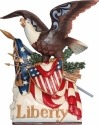 Jim Shore 6001085 Musical Patriotic Eagle