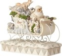 Jim Shore 6001410 Woodland Santa in Sleigh Figurine