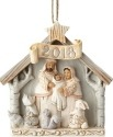 Jim Shore 6001417 Woodland Nativity Dated Ornament