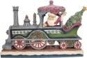 Jim Shore 6001427 Victorian Santa in Train Figurine