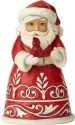 Jim Shore 6001489 Pint Size Red Santa & Cardinal
