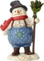 Jim Shore 6001491 Keep Your Spirits Up Snowman Pint Size